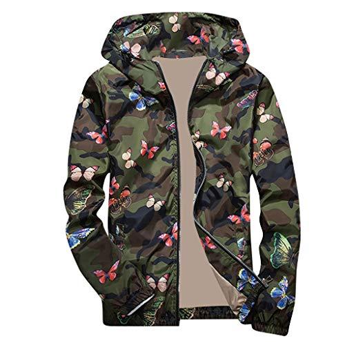 Amphia - Camouflage Sports Herren Freizeitjacke mit Kapuze - Herren Herbst Winter Camouflage Print Pullover Langarm Mit Kapuze Oberteile Bluse