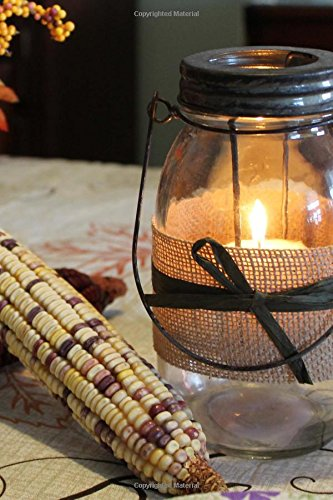 (Fall Mason Jar Candle Journal: 150 page lined 6 x 9 notebook/diary/journal)