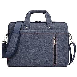 LOSORN ZPY 13-17 Zoll Laptop Tasche mit Schultergurt Aktentasche für Laptop/Notebook Computer/MacBook, Blau, 17 Zoll