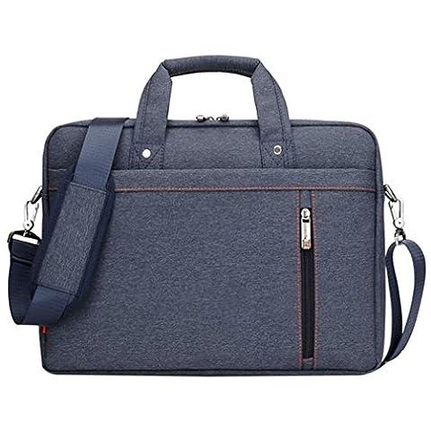 LOSORN ZPY 13-17 Zoll Laptop Tasche mit Schultergurt Aktentasche für Laptop / Notebook Computer / MacBook (17 Zoll, Blau)