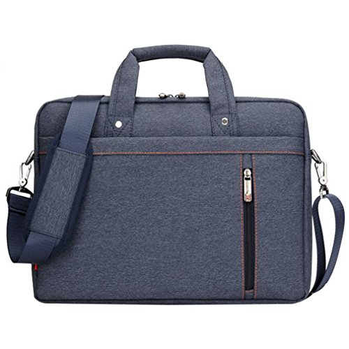 LOSORN ZPY 13-17 Zoll Laptop Tasche mit Schultergurt Aktentasche für Laptop/Notebook Computer/MacBook (14 Zoll, Blau) (Hp 17-zoll-computer-monitor)