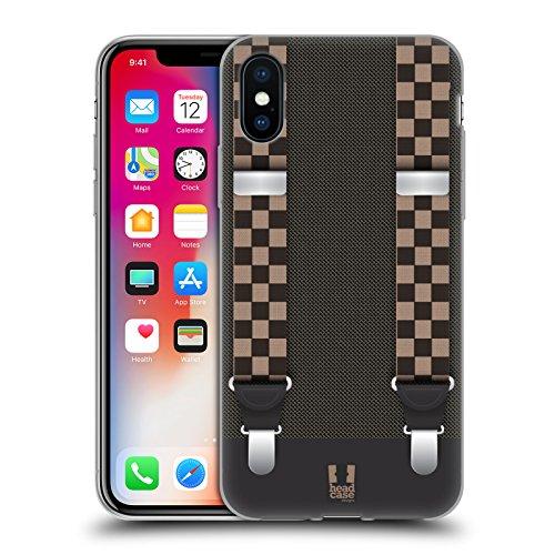 Head Case Designs Maki Temps De Sushi Étui Coque en Gel molle pour Apple iPhone 5 / 5s / SE Damier Double