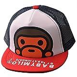 Belsen Kind Hip-Hop Affe Mesh Cap Baseball Kappe Hut, Rot, one size