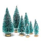 DOXMAL Künstlicher Weihnachtsbaum Mini Tannenbaum Deko Künstlich Christmas Tree Unstlicher Klein 3D Weihnachtsbaum Decoration (Weihnachtskugeln Grün 8 Stücke)