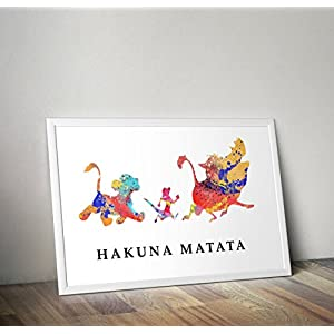 Lion King inspirierte Aquarell Poster - Simba - Zitat - Alternative TV/Movie Prints in verschiedenen Größen (Rahmen nicht im Lieferumfang enthalten)