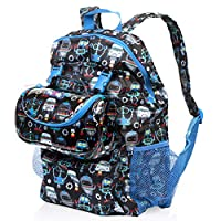 Nuby Trendz 2-in-1 Backpack and Lunch Bag, Robots - Parent