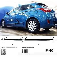 Spangenberg Listones de protección Lateral Hyundai i30 II GD Hatchback 2. Generación año de construcción