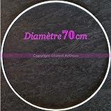 Großkreis XXL Metallic Weiß Diam. 70cm für Lampenschirm, Ring Epoxidharz weiß Traumfänger