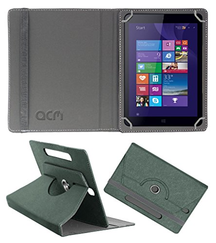 Acm Designer Rotating Leather Flip Case for Iball Slide Wq32 Cover Stand Grey  available at amazon for Rs.189