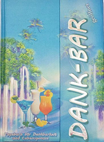 Preisvergleich Produktbild Tagebuch Dank-BAR mit inspirierenden Fragen für jeden Tag, Karibik-Blau, A5, liniert, mit Magnetverschluss