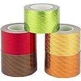 Ideen mit Herz Decoratief plakband, 30mm x 5m, 5 rollen | Washi Tape | Afplakband | Dekoband | Laserlook, gelaserd, hologramm