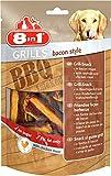8in1 Grills Bacon Style Hähnchenfleisch, Belohnung für Hunde mit hochwertigem, 4 Packungen (4 x 80 g)