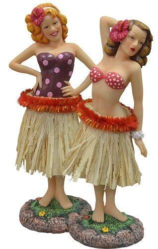 Hawaiian 40de Retro vintage-styled Hula chica Pin Up muñeca de salpicadero de coche