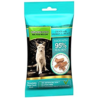 4 packs of Natures Menu Cat Treats Real Fish Salmon & Trout 60g 51Gcoysf9nL