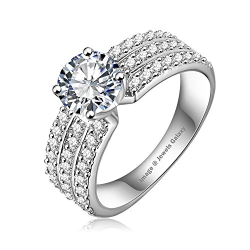 Jewels Galaxy Luxuria Trendy Platinum Plated AAA Zircon Women Jewellery Rings (8)