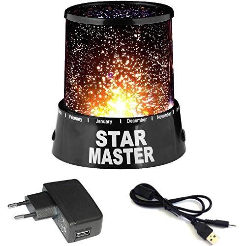 Star Master Colorful Romantic LED Cosmos Sky Starry Moon Beauty Nachtlicht, Geschenk für Neugeborene, Kinder, Erwachsene, Geburtstag, Blau