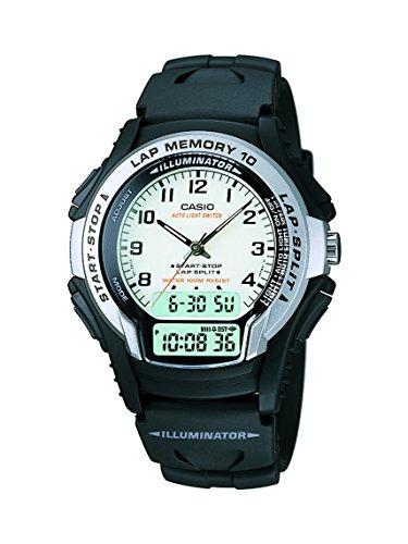 Casio WS-300-7BVSDF - Reloj (Reloj de Pulsera, Resina, Negro, Acero Inoxidable, Resina, Negro, Resina)