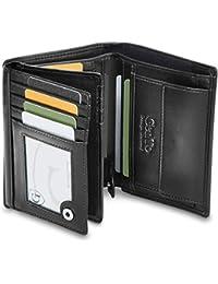 GenTo® Oslo Protección RFID y NFC - Billetera de Hombre con Compartimento para Monedas - Cartera espaciosa - Cartera de Hombre - Cartera con Caja de Regalo