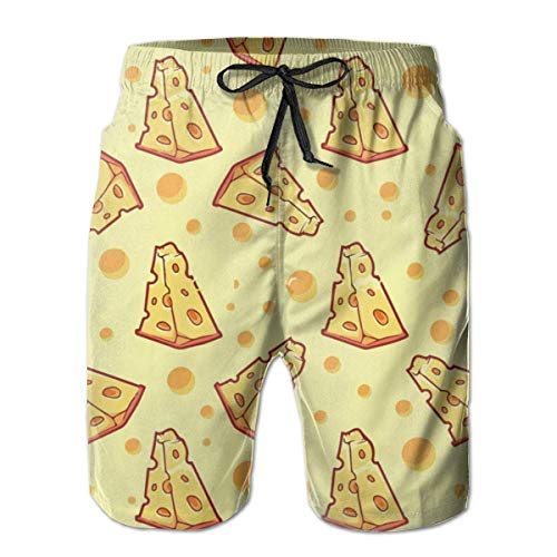 remmber me Cheese Food Boys Big & Tall Cargo Kurze Halbhose Essentials Badeanzüge Plus Size XXL -