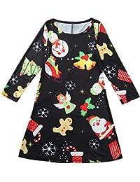 POLP Niño Navidad Ropa niñas Unisex Pijama Bebe Navidad Regalo Estampado de Navidad Manga Larga Camiseta