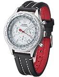 DETOMASO Herren-Uhr Firenze Chronograph mit Lederarmband und Mineral-Kristallglas. Klassiche und wasserdichte Quarz-Uhr mit silbernem Edelstahl-Gehäuse