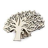 ULTNICE Holz Deko 10pcs Baum-Verschönerungen für DIY Handwerk/Dekoration (hölzerne Farbe)