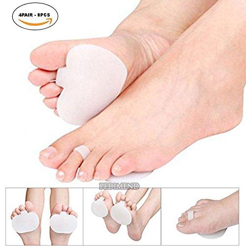 Pedimend pedimend 's 8Stück Mittelfußpolster-Fuß Impact Kissen-Ball of Foot Kissen für Rapid Schmerzlinderung-Soft Orthopädische Zupfen Fuß Innensohle-Foot Care