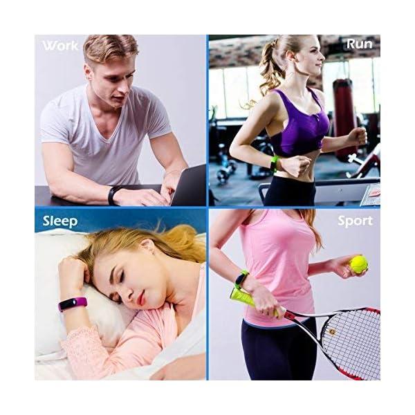 CHEREEKI Pulsera Actividad [versión Mejorada] con Control de frecuencia cardíaca podómetro Monitor, Smartwatch Pulsera… 7