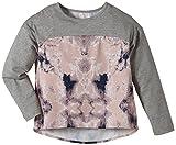 NAME IT Mädchen Langarmshirt Germine Kids Oversize Top Lmtd 215, Gr. 134 (Herstellergröße: 134-140), Mehrfarbig (Grey Melange)