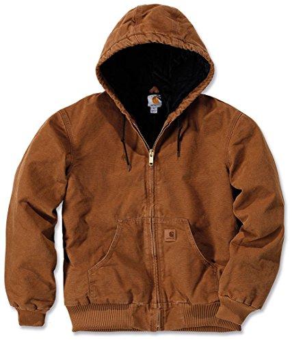 Jacke für Herren aus Stoff Modell Carhartt J130 Sandstone Active Braun Jacket Brown M braun