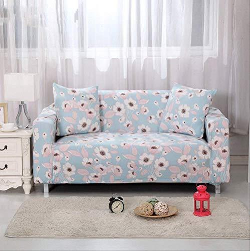 Dyb&home fodera per divano elasticizzato 1/2/3/4 posti divano fodera, lavabile in lavatrice, fiore fresco lingua jacquard tessuto protettivo in poliestere