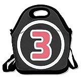 Copdsa Daniel Ricciardo F1 Racing Number 3 Isolierte Lunch-Tasche, Schwarz
