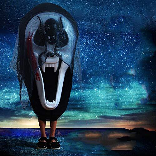 Lxj Halloween Horror Maske Fratze Schädel Hexe Tausendfüßler Spinne Requisiten Haunted Haus Schreien große Maske