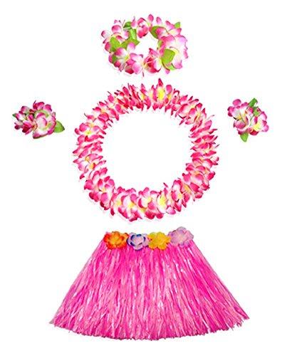 Grass Skirt Kostüm Set Hawaiian gekräuselten Simulierte Bunte Kind-Kleid