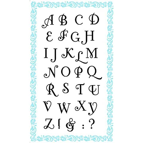 Alfabeto - Fonteroy // Sellos di Silicona Clear Stamps Pack (10x18 cm) FLONZ
