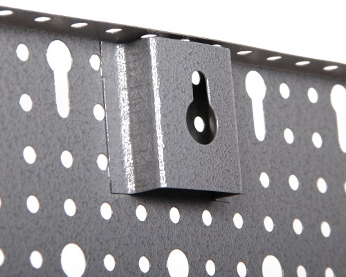 Ondis24 große Werkzeugwand 120 x 60 cm Lochwand mit 22 -tlg.Hakensortiment Werkstatt aus Metall - 3