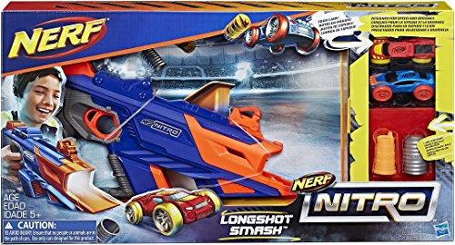Hasbro C0784EU4 - Nerf Nitro Long Shot Smash Fahrzeugblasterset