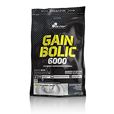 Olimp Gain Bolic 6000 Bag Mass Gainer Supplement, Chocolate Flavour by Olimp Sports Nutrition