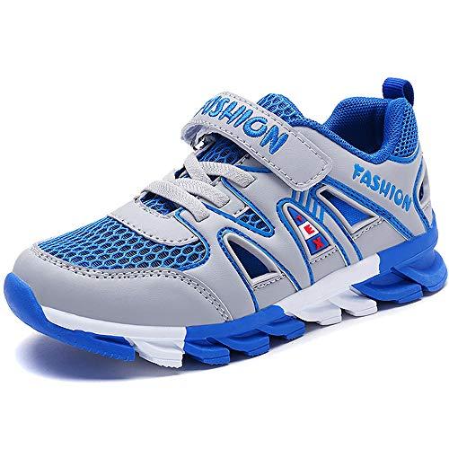 Gaatpot Jungen Sandalen Sommer Kinder Klettverschluss Sandaletten Outdoor Atmungsaktiv Mesh Sportschuhe Sneakers Schuhe Grau 39 EU = 40 CN