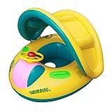 PVC-Markise mit abnehmbaren Babys Schwimmen Ring 1-5 Verdickung Kinder erhöht Kindersitz mit einer Trompete Wasser Spielzeug Boote