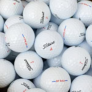 Second Chance Titleist DT Solo Premium Lake Golf Balls Grade A (Pack of 12)