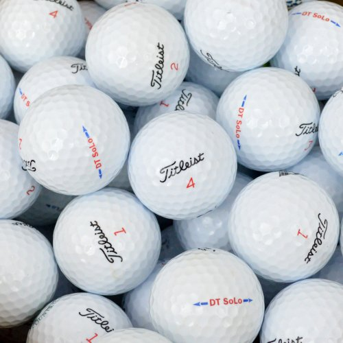 Value Pack Cut Outs (Second Chance Golfbälle 100 Titleist DT Solo Lake A-Qualität, weiß, PRE-100-BOX-TIT-SOL)