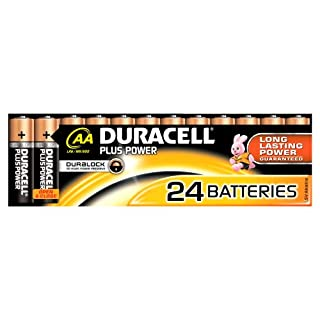 Duracell Plus Power Type AA Alkaline Batteries, pack of 24