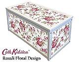 Weiß Holz Aufbewahrung/Spielzeugkiste Box mit Cath Kidston IKEA ROSALI Aufkleber