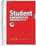Brunnen 106792818 1067928 Notizblock/Collegeblock Student (A4, kariert, Lineatur 28, 70 g/m², 80 Blatt) 5 Stück