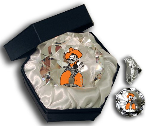 Sports Collector's Guild NCAA Oklahoma State University Cowboys Logo auf einem 10,2 cm hohen Brillanz-Kristall-Briefbeschwerer Oklahoma State University