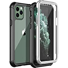 Nineasy iPhone 11 Pro Case, Full Body Clear Cover with Built-in Screen Protector Shockproof Anti-Scratch Rugged Bumper Case for iPhone 11 Pro(5.8 Inch)-Black/Clear