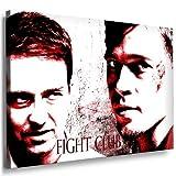 Boikal / Leinwand Bild Brad Pitt Fight Club Leinwanddruck, Kunstdruck fm22 Wandbild 70 x 50 cm