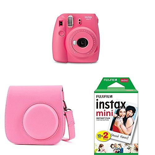Fujifilm - Instax Mini 9 - rose - appareil seul + 2x10 films + Housse