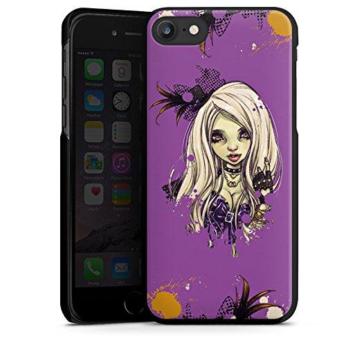 Apple iPhone X Silikon Hülle Case Schutzhülle Comic Girl Mädchen Hard Case schwarz